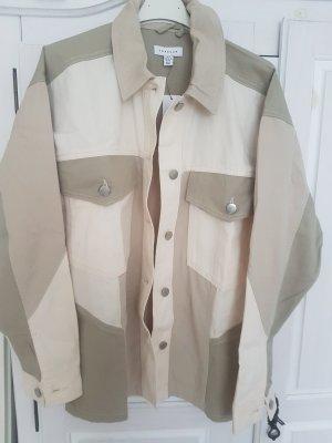 Topshop Blusa-camisa gris-beige claro