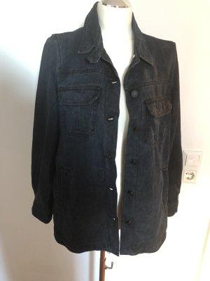 Mango Denim Jacket dark blue-black