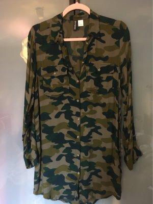 H&M Divided Shirtwaist dress khaki viscose