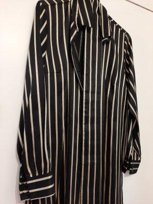 Alexander Wang for H&M Vestido tipo blusón beige-negro Poliéster