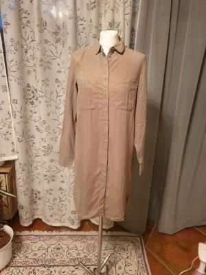 Hemdkleid Blusenkleid khaki Gr. XS (34) Pieces Kleid