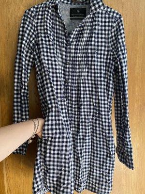 Maison Scotch Hemdblousejurk zwart-wit