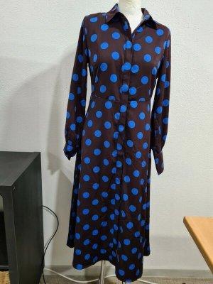 YAS Blouse Dress bordeaux-neon blue