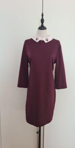 Vila Sukienka z długim rękawem brązowo-fioletowy