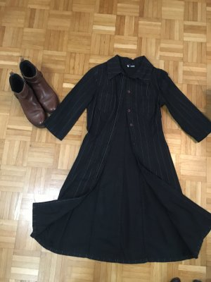 H&M Hemdblousejurk zwart Katoen