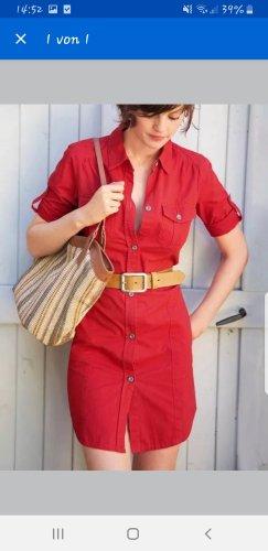 3 Suisses Vestido tipo blusón rojo