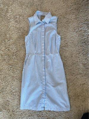 H&M Abito blusa camicia bianco-azzurro