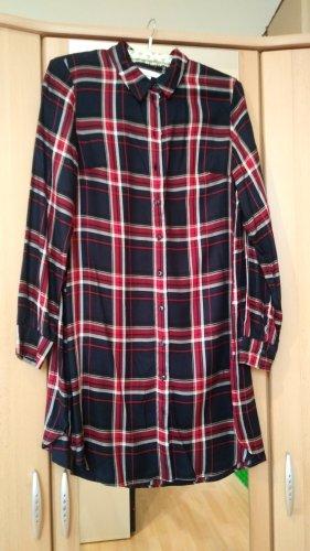 Hemdkleid H&M Gr. 38 blau-rot-kariert
