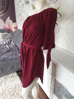 Abito blusa camicia rosso scuro