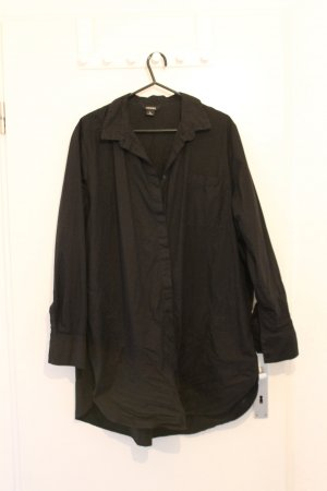 Monki Vestido tipo blusón negro Algodón