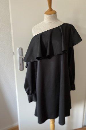 Fashion Union Vestido de un hombro negro