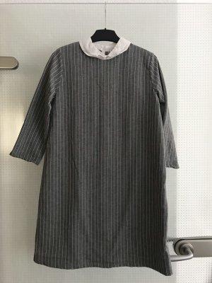 Pull & Bear Hemdblousejurk grijs-wit