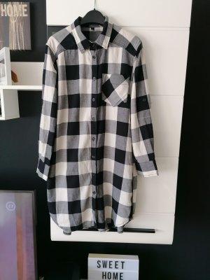 H&M Abito blusa camicia bianco-nero