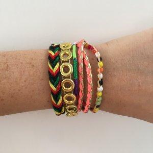 Hemisphere Armband veelkleurig Gemengd weefsel