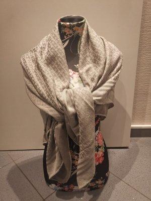 Hemisphere Woolen Scarf silver-colored wool