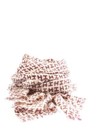 Hemisphere Szal letni kremowy-brązowy Wydrukowane logo W stylu casual
