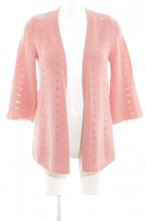 Hemisphere Strick Cardigan pink Zopfmuster Casual-Look