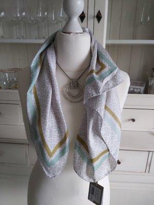 Hemisphere Bufanda de seda blanco-gris claro