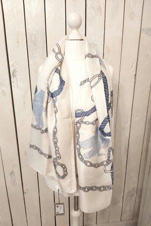 Hemisphere Foulard en soie blanc cassé