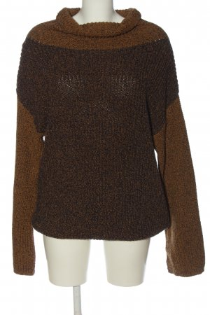 Hemp Age Gehaakte trui bruin gestippeld casual uitstraling