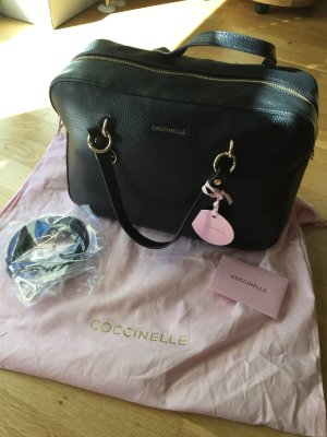Coccinelle Carry Bag black-gold-colored