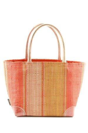 Sac Baril orange clair-rouge motif rayé style décontracté