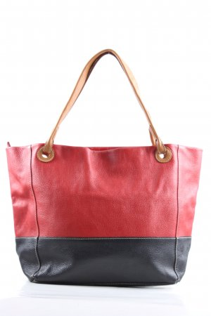 0039 Italy Pouch Bag red-black leather