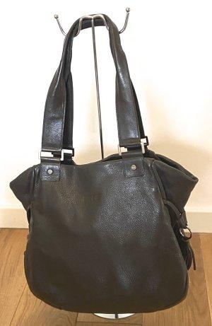 Bree Sac Baril brun noir-argenté cuir