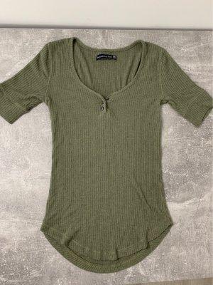 Abercrombie & Fitch Camicia maglia cachi