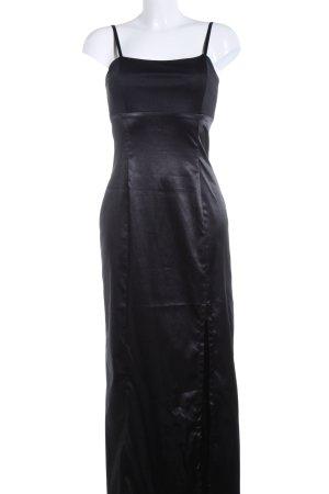 Hennes Collection by H&M Abendkleid schwarz Glanz-Optik