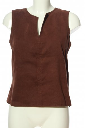 Hennes Collection by H&M ärmellose Bluse braun Casual-Look