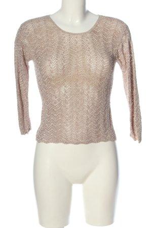 Hennes Collection by H&M Pull en crochet crème Motif de tissage