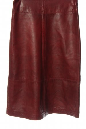 Hennes Collection by H&M Faux Leather Skirt red casual look