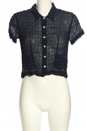 Hennes Collection by H&M Kurzarm-Bluse blau Karomuster Casual-Look