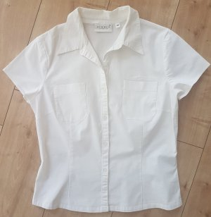 Hennes Collection by H&M Kurzarm Bluse Weiß Business Büro Basic M 38