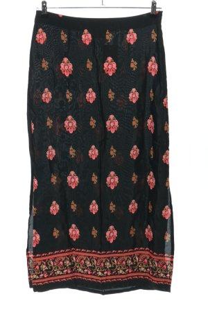 Hennes Collection by H&M Jupe longue noir-rose motif de fleur