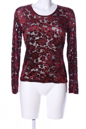 Hennes Collection by H&M Top maillé rouge-noir motif de fleur
