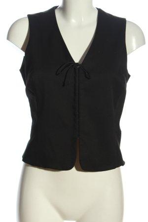 Hennes Collection by H&M Chaleco de punto negro estilo «business»