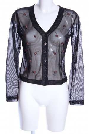 Hennes Collection by H&M Transparenz-Bluse schwarz Blumenmuster