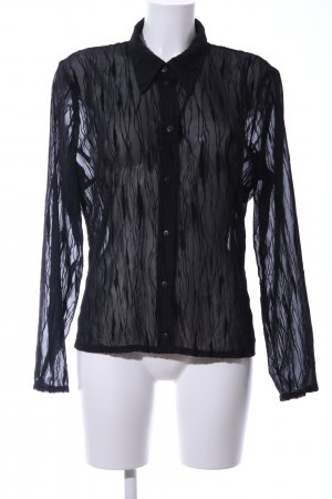Hennes Collection by H&M Transparenz-Bluse schwarz Business-Look