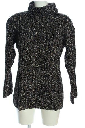 Hennes Collection by H&M Wollpullover schwarz-weiß meliert Casual-Look
