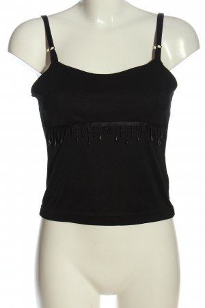 Hennes Cropped Top schwarz Casual-Look