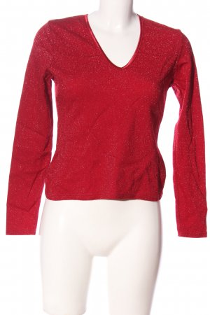 Hennes Glanzbluse rot Casual-Look