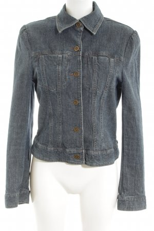 Hennes Denim Jacket light grey-silver-colored striped pattern casual look