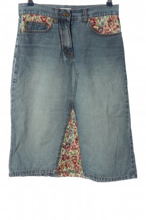 Hennes Jeansrock Blumenmuster Casual-Look