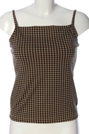 Hennes Top z cienkimi ramiączkami czarny-zielony Graficzny wzór W stylu casual