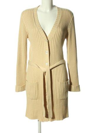 Hennes Cappotto a maglia bianco sporco motivo a righe stile casual