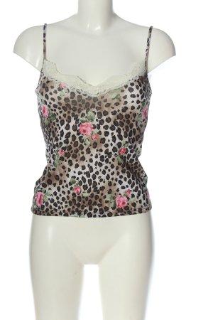 Hennes Trägertop braun-pink Allover-Druck extravaganter Stil