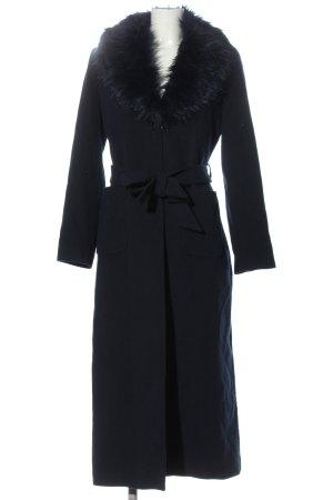 hennin Manteau long bleu style décontracté