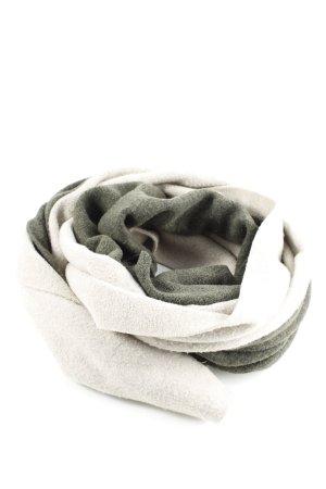 Bufanda tubo blanco puro-caqui look casual